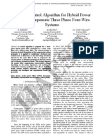 1 IJAEST Volume No 3 Issue No 1 a Novel Control Algorithm for Hybrid Power Filter to Compensate Three Phase Four Wire Systems 001 011