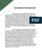 3d Vlsi Packaging Technology