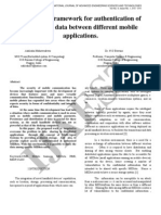 2 IJAEST Vol No.4 Issue No.1 a Software Framework for Authentication of Interacting Data Between Different Mobile Applications 010 014