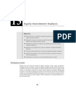 Chapter 13 - Equity Investment Analysis