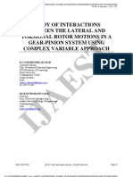 10.Ijaest Vol No 5 Issue No 1 Study of Interactions Between the Lateral and Torsional Rotor Motions in a Gear Pinion System Using Complex Variable Approach 072 077