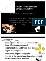 Stress Faced by the Spouses of Bipolar Patients