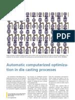 AutomaticComputerizedOptimizationInDieCastingProzess