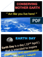Rishi Thariani Ppt Earth Conversation