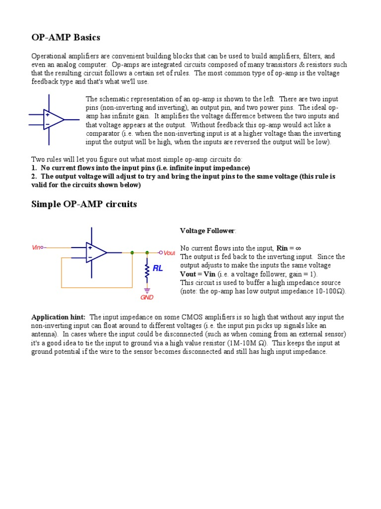 Op Amps Operational Amplifier Circuit Which Is Used In The Simple