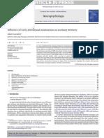 Influence Ofearlyattentionalmodulationonworkingmemory