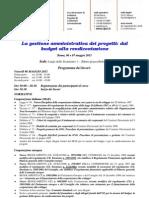 La Gestione Amministrativa Dei Progetti e Rendicontazione Progetti