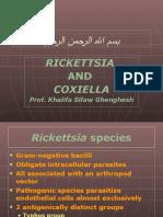 Lecture Rickettsia; Coxiella