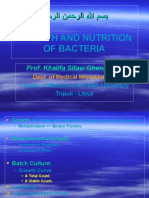 Lectures-Growth and Nutrition of Bacteria