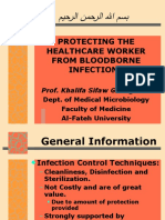 Protecting the Healthcare Worker From Blood Borne Infections