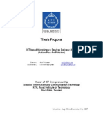 Thesis Proposals for ICT