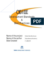 OBIEE Standards and Best Practices