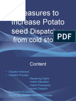 Measures to Increase Potato seed Dispatches from Cold Stores