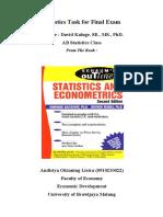 Statistics Task for Final Exam
