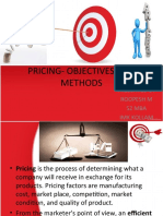 Pricing Objectives and Methods