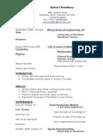Cv ( Resume)