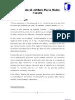 Plan Pastoral Instituto María Madre Nuestra -2011
