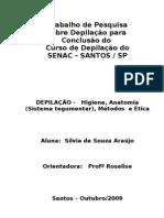 TRABALHO DE DEPILAÇÃO