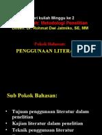 Penggunaan Literatur