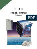 DCS816 Installation Manual