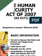 Human Security Act-BLN