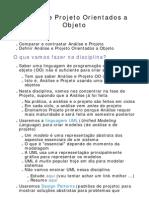 1.1-Projeto de Software Orientado a Objeto