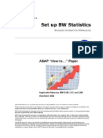 How to… Set up BW Statistics