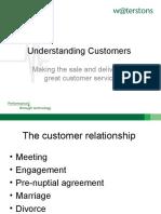 Understanding Customers - Presentation by Waters Tons