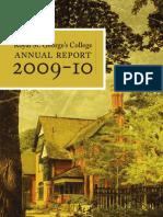 RSGC Annual Report 2009-2010
