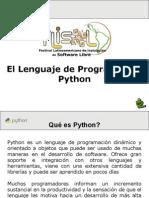El Lenguaje de Programación Python
