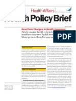 RWJF Policy Brief - Near-Term Changes in Health Ins