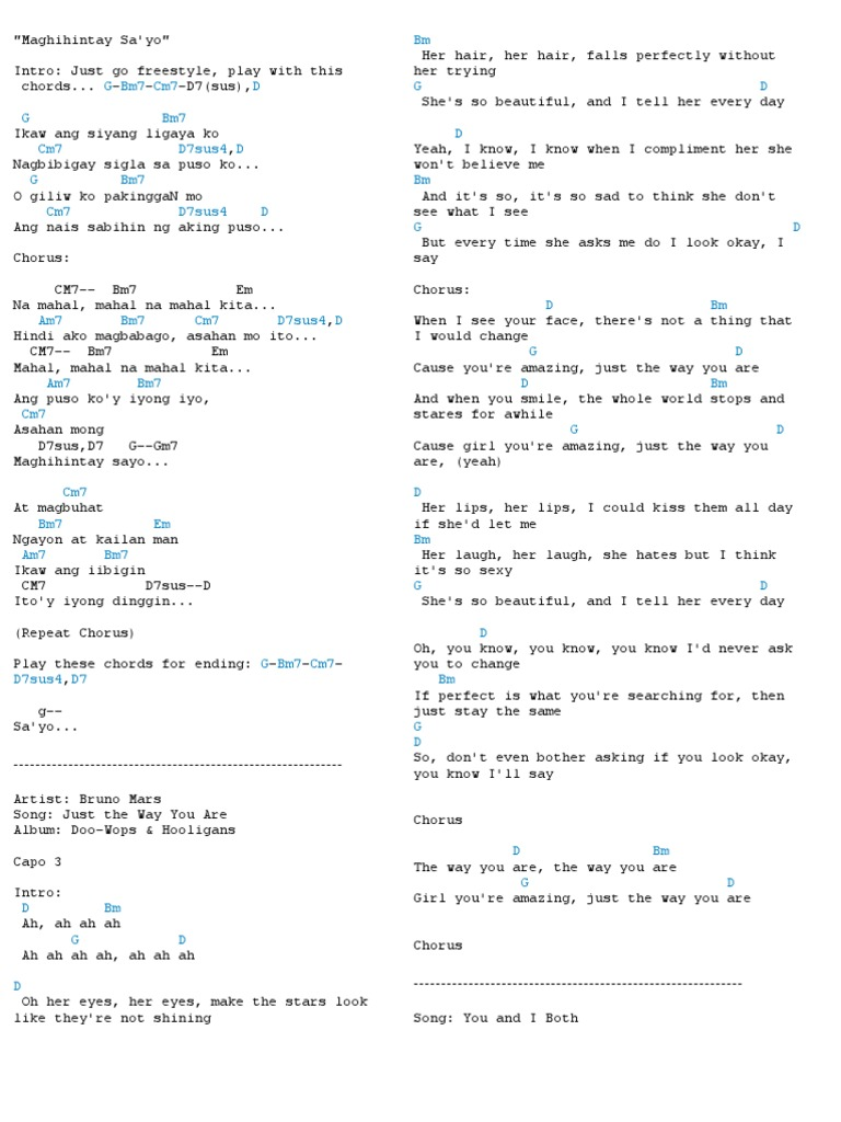 Songs With Guitar Chords Song Structure Songs