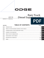 2010 Ram Truck Diesel Supplement OM 2nd