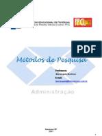Apostila Metodos de Pesquisa 2011 FFCL