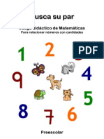Busca su par Matemáticas Preescolar