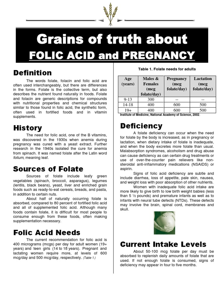 Folic Acid - Pregnancy | Medical Specialties | Folic Acid