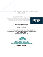 Normas para los procesos catastrales - Paraguay