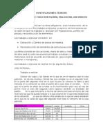 Especificaciones Tecnicas Finca Montemilar