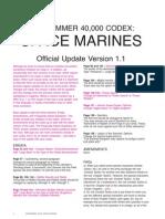 FAQ Space Marines Version 1-1