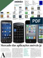 Artigo Do Diario Economico sobre mercado de aplicações mobile