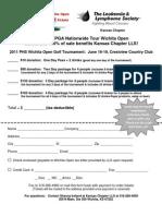 2011 Wichita Open Order Form