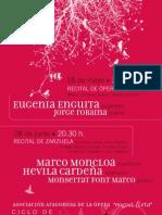 Recitales 2011 Cartel
