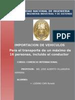 Comercio Internacional Importacion de Autos
