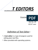 Text Editors Ppt