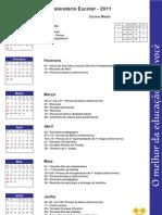 Calendário para pais Ensino Médio