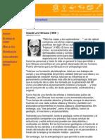 Claude Levi-Strauss - Antropologia