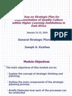 General Strategic Planning