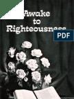 Awake to Righteousness