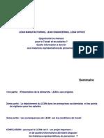 Presentation Sucincte Du Lean