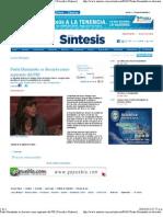 20-04-11 Paula Hernandez Se Descarta Como Aspirante Del PRI - SINTESIS
